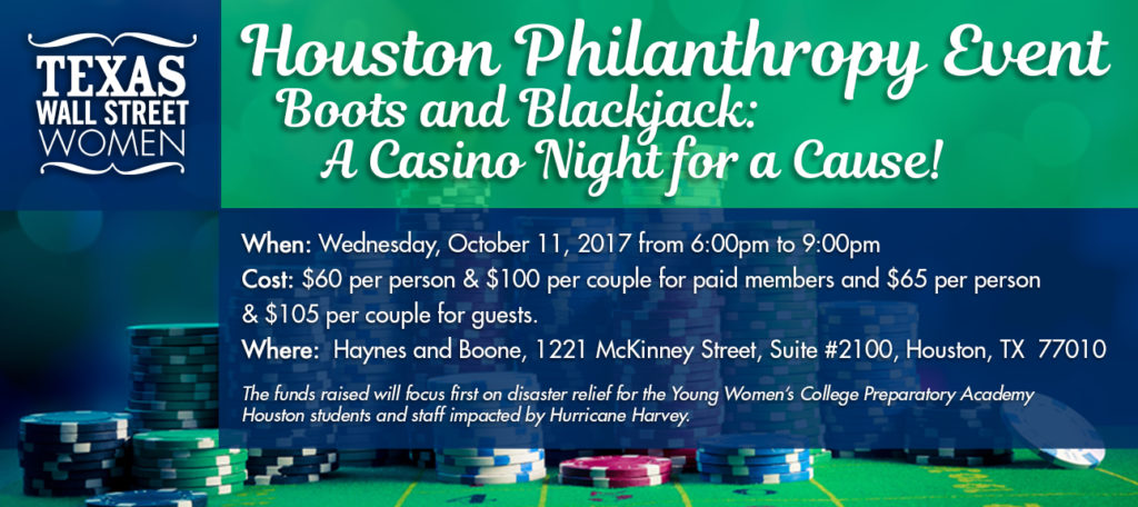 TXWSW, Houston, Boots & Blackjack, Philanthropy