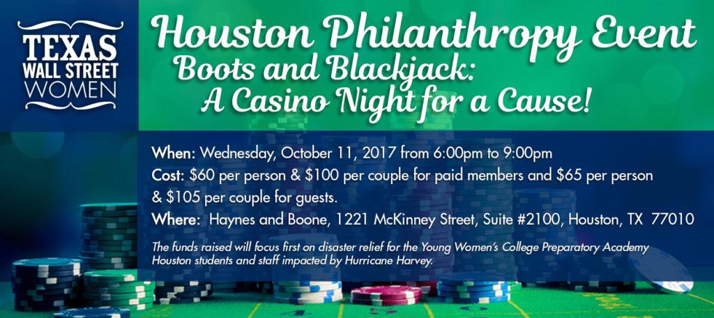 TXWSW, Houston, Boots & Blackjack, Philanthropy