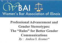 Professional Advancement and Gender Stereotypes