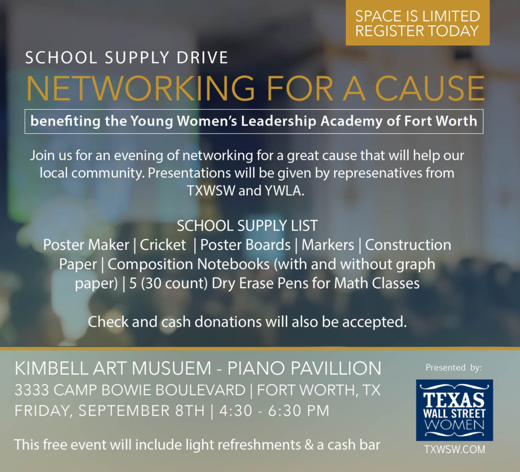 Mixmaster, TXWSW, Fundraiser, School Supplies