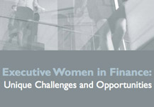 November 4, 2009 – Executive Women in Finance: Unique Challenges and Opportunities