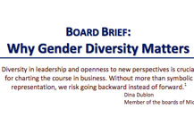 Board Brief: Why Gender Diversity Matters