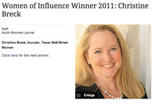 Austin Business Journal unveils 25 'Women of Influence' Award Winners