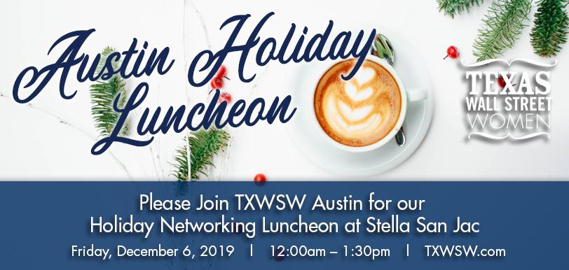 TXWSW, Austin Holiday Luncheon, Networking