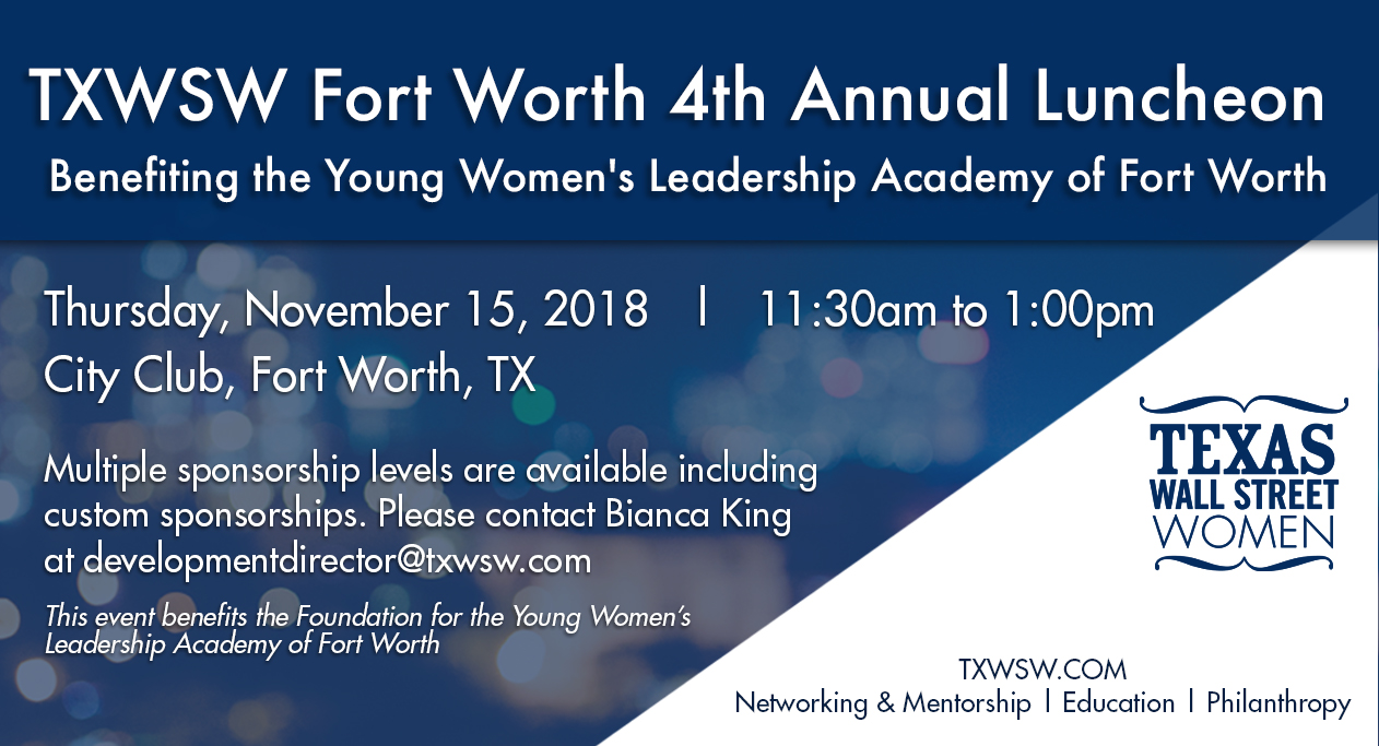 Txwsw Fort Worth 4th Annual Luncheon Benefiting The Young
