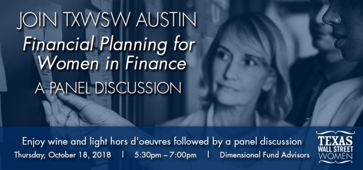 TXWSW, AUSTIN WOMEN IN FINANCE