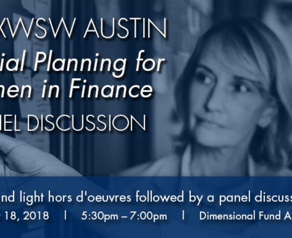 TXWSW, AUSTIN WOMEN IN FINANCE