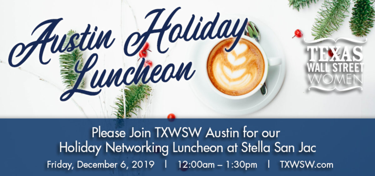 TXWSW, Austin Holiday Luncheon, Networking