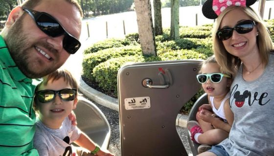 Becky and her family at Disney World