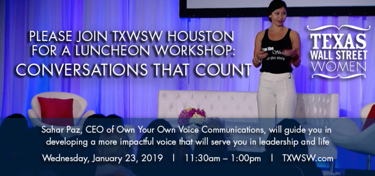 TXWSW, Houston, Education, Sahar Paz