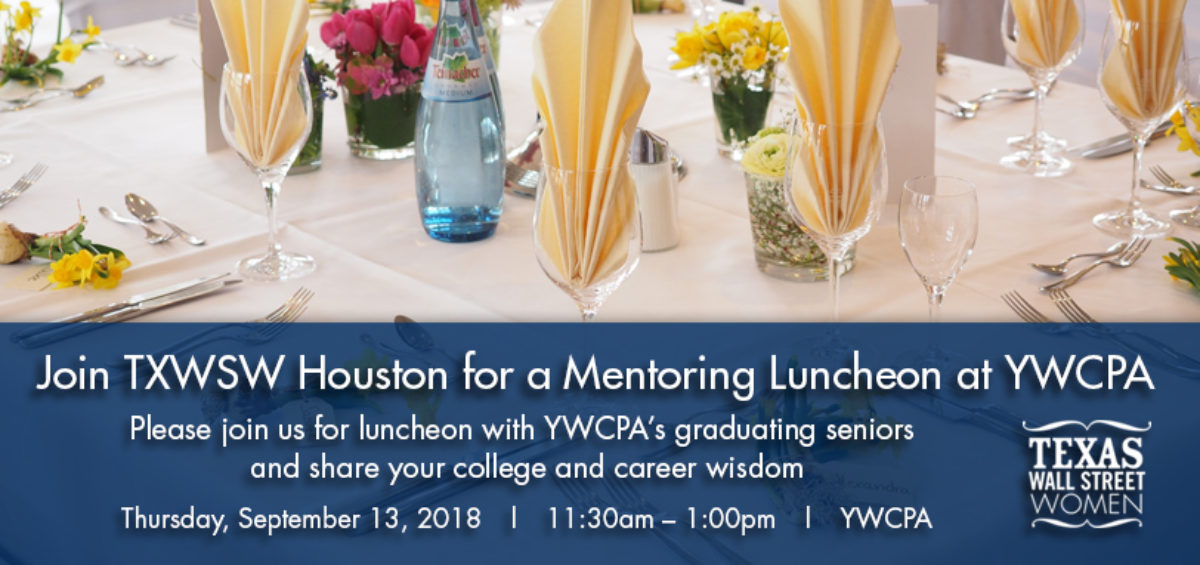 TXWSW, Houston, YWCPA Houston, mentorship